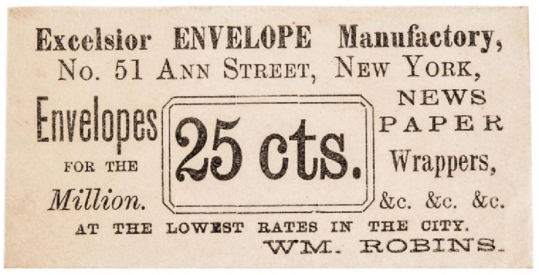 25¢ U.S. Postage Stamp Envelope Rarity-9 UNIQUE!