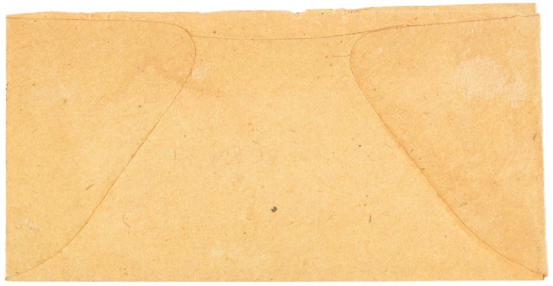 U.S. Postage Stamp Envelope Wm Robins 25 Cents NY - 2