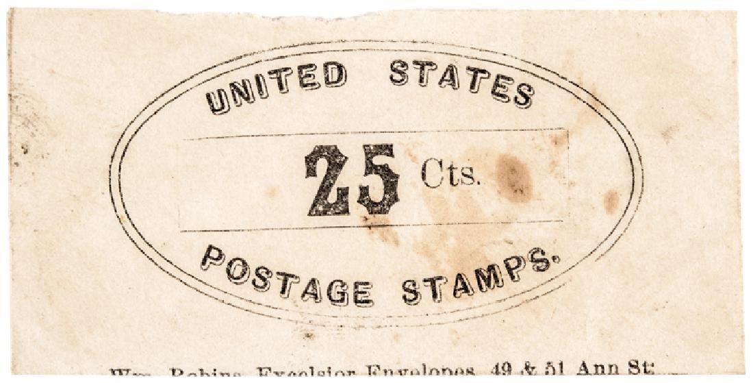 U.S. Postage Stamp Envelope WM. Robins NY Variant