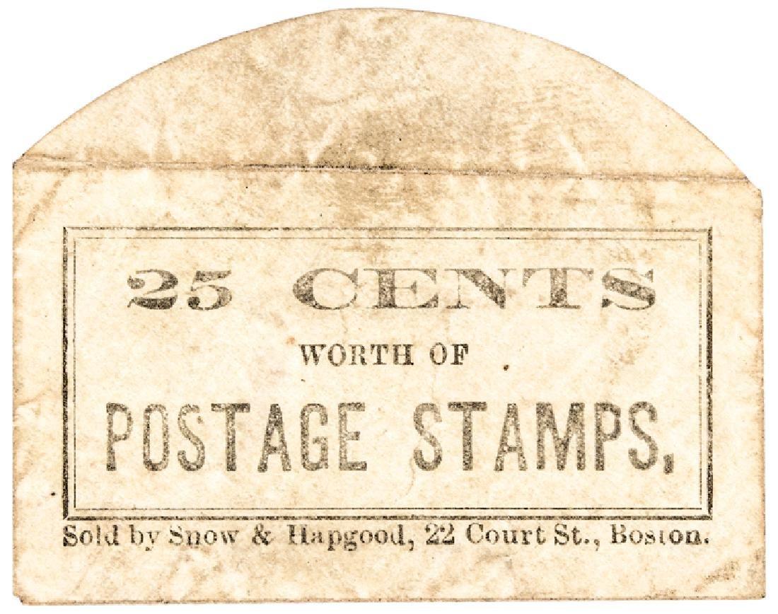 US Postage Stamp Envelope Fr. Plate Snow + Hagood