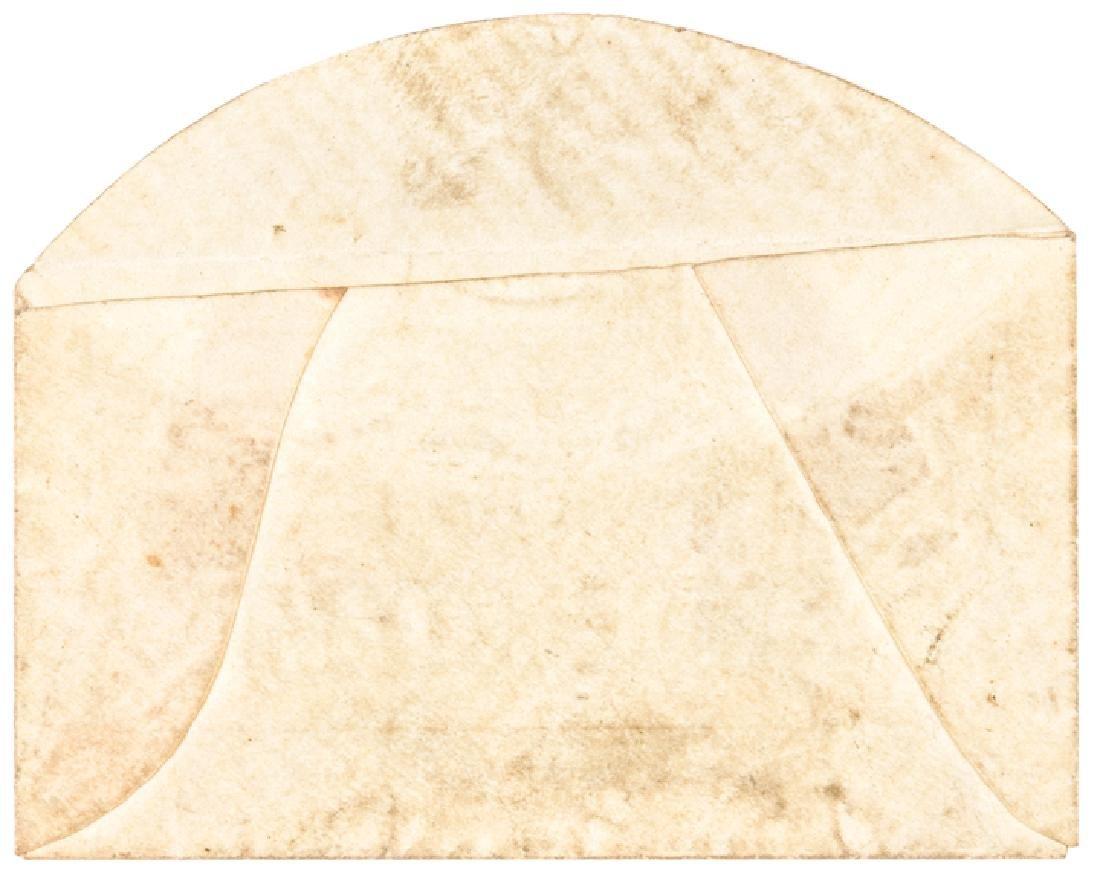 US Postage Stamp Envelope Fr. Plate Snow + Hagood - 2