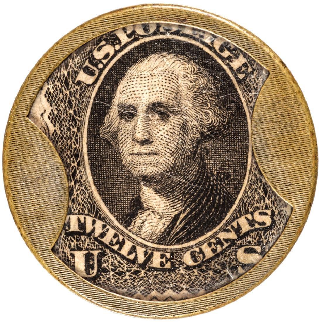 Encased Postage Stamp, EP-151, 12 Cents HUNT+NASH