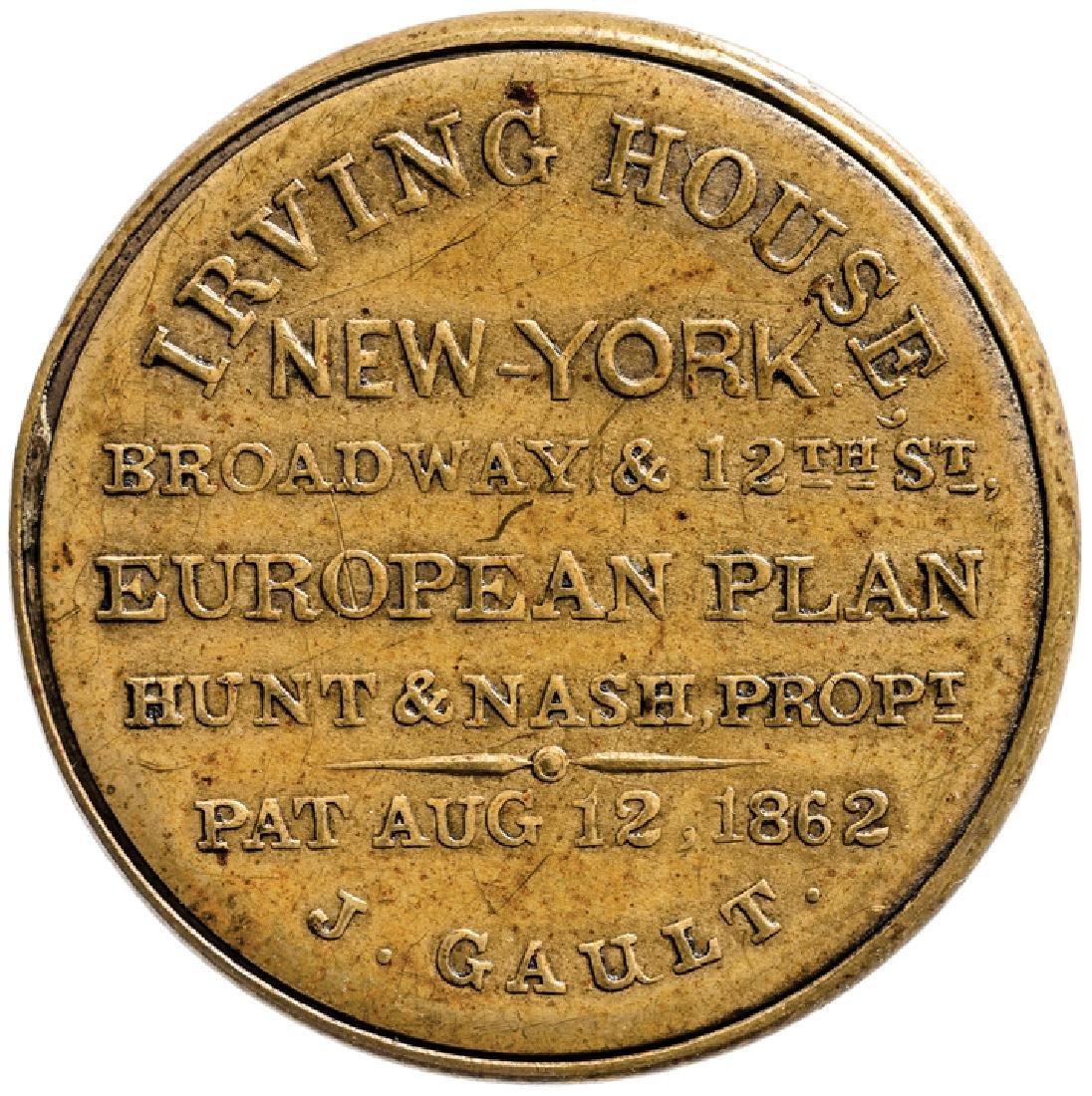 Encased Postage Stamp, EP-151, 12 Cents HUNT+NASH - 2