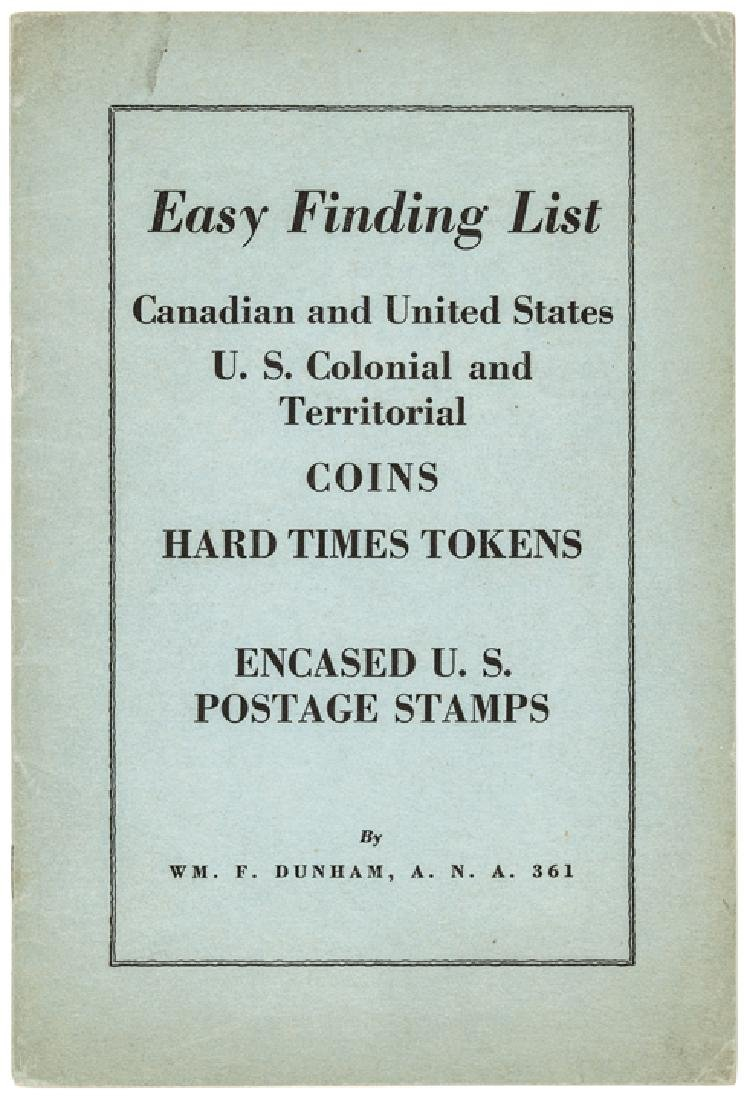 Dunham's Catalog US Coins, Encased Postage Stamps