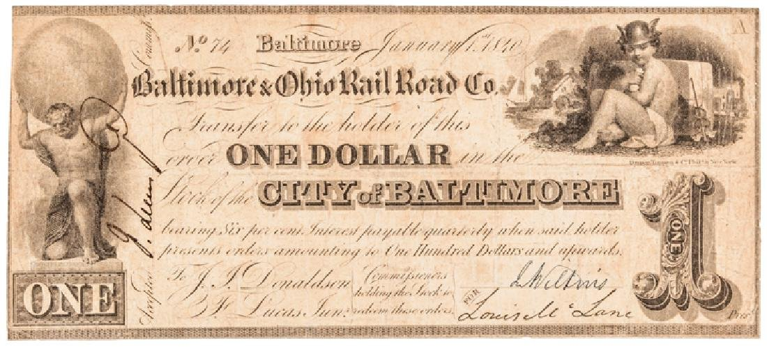 Collection: Baltimore, Maryland Obsolete Currency - 2