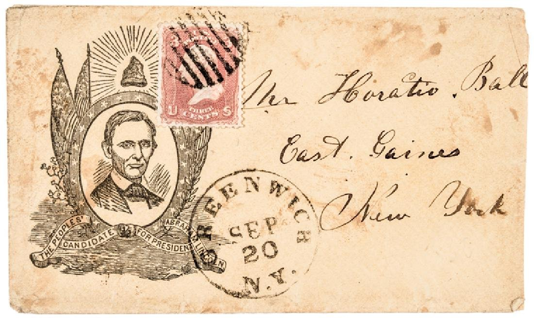 1860 Abraham Lincoln Campaign Letter/Postal Cover