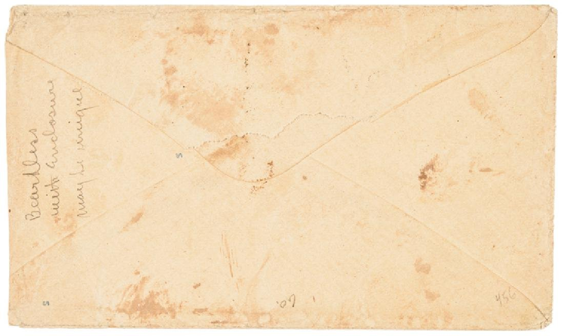 1860 Abraham Lincoln Campaign Letter/Postal Cover - 2