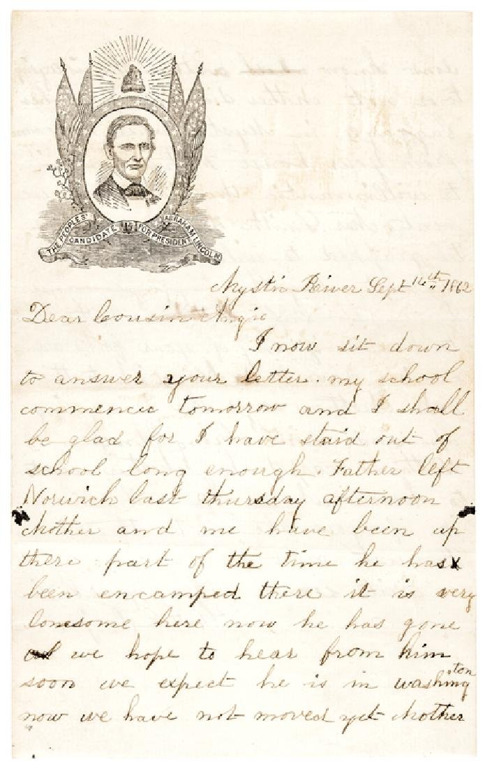 1860 Abraham Lincoln Campaign Letter/Postal Cover - 3