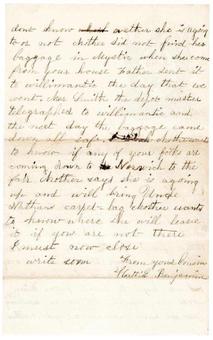 1860 Abraham Lincoln Campaign Letter/Postal Cover - 4