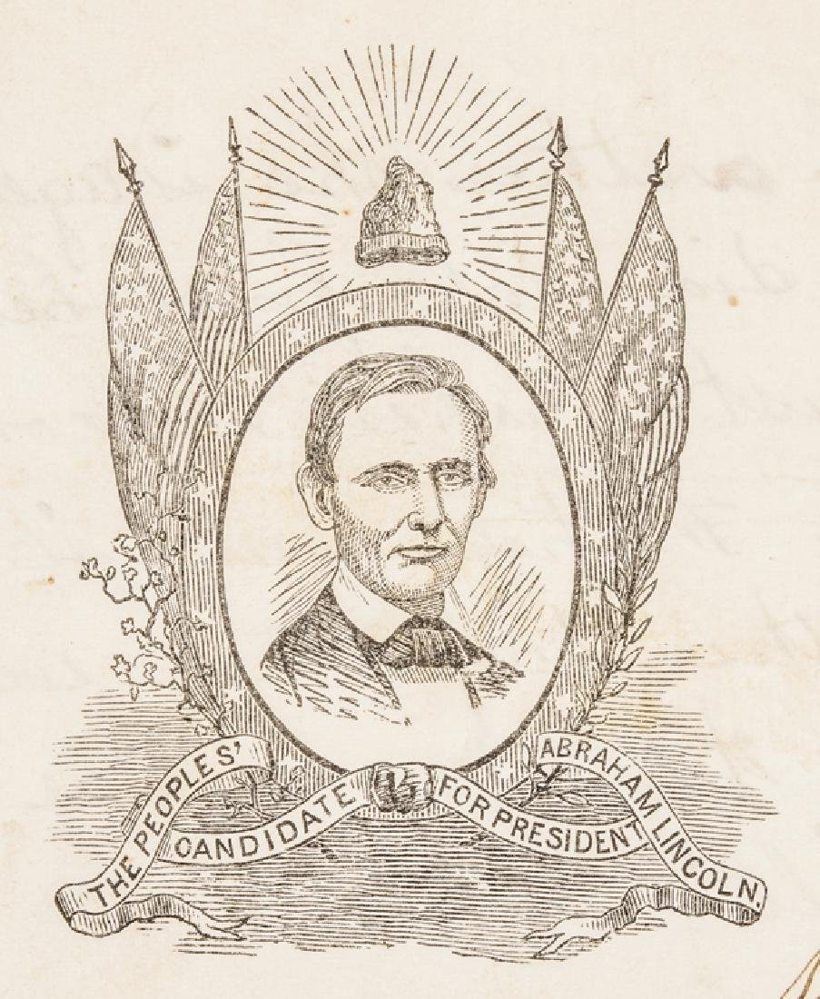 1860 Abraham Lincoln Campaign Letter/Postal Cover - 5