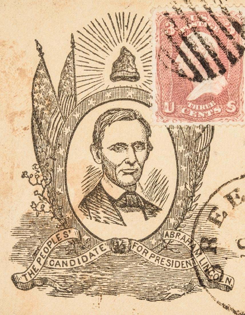 1860 Abraham Lincoln Campaign Letter/Postal Cover - 6
