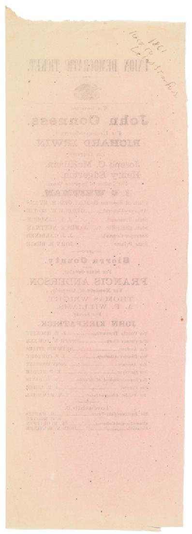 1861 California Gubernatorial Election Ballot ! - 2