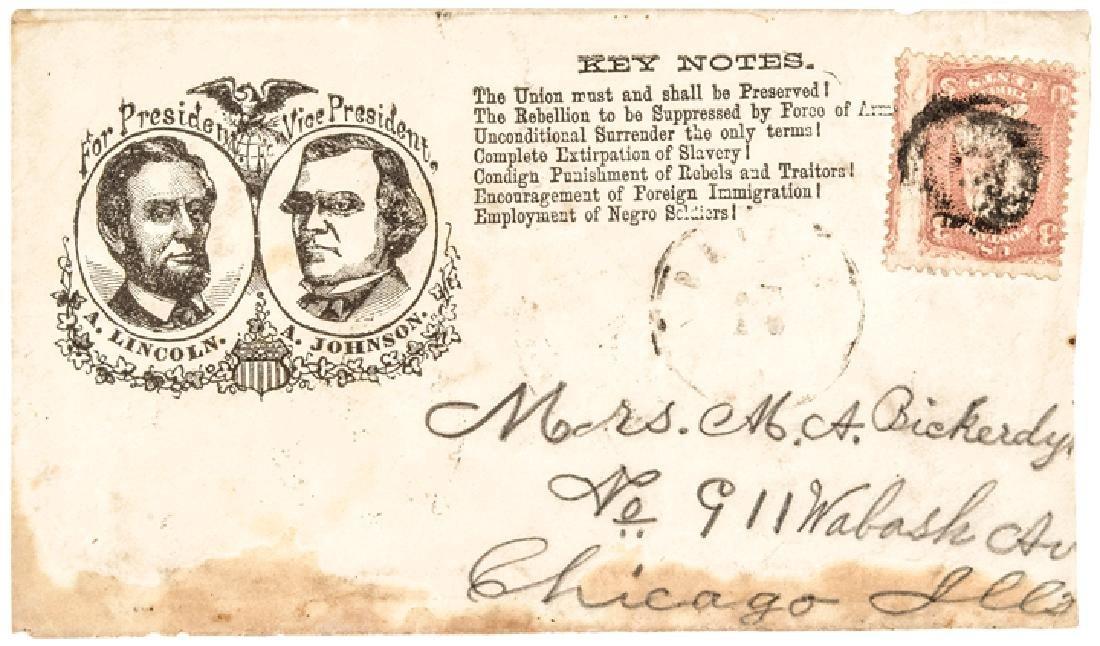 1864 Lincoln + Johnson Jugate Anti-Slavery Cover
