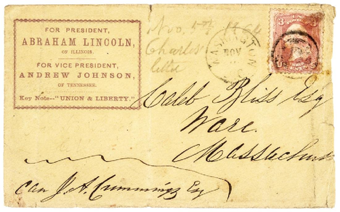 1864 Abraham Lincoln Presidential Campaign Cover