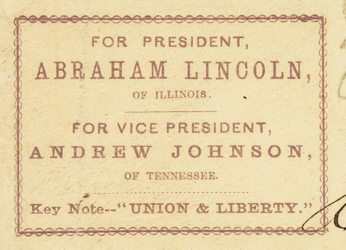 1864 Abraham Lincoln Presidential Campaign Cover - 3