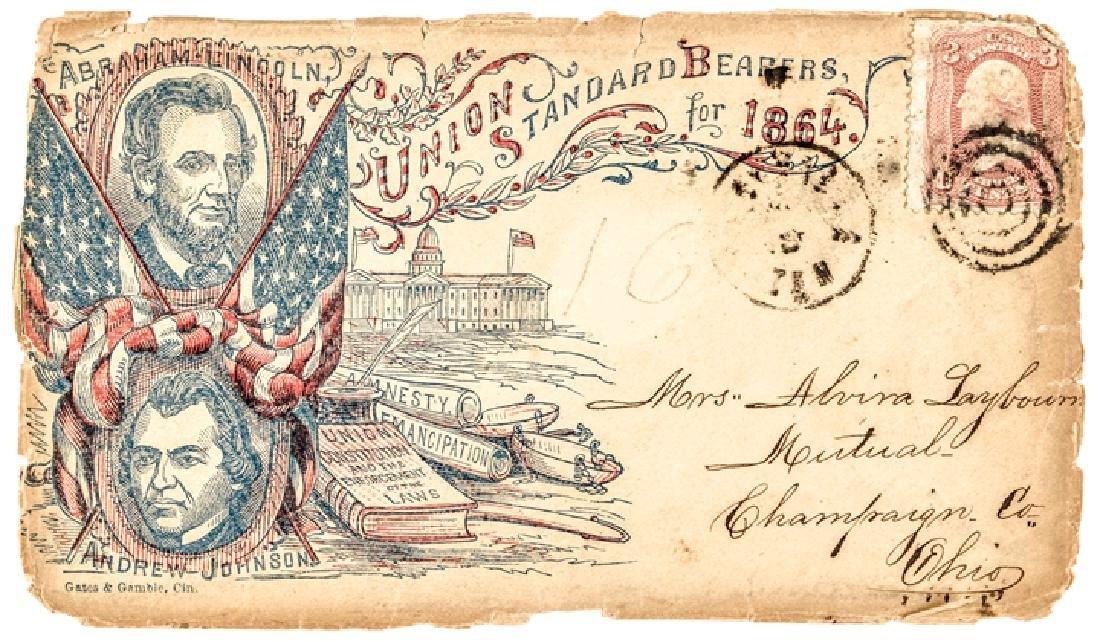 1864 Lincoln +Johnson Presidential Campaign Cover
