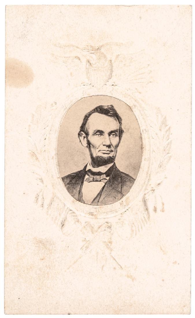 c 1864 Abraham Lincoln Patriotic Carte de Visite