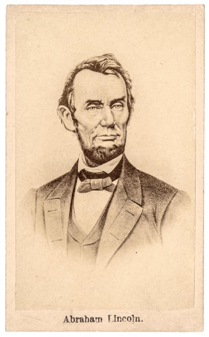 Advertising CDV of President Abraham Lincoln