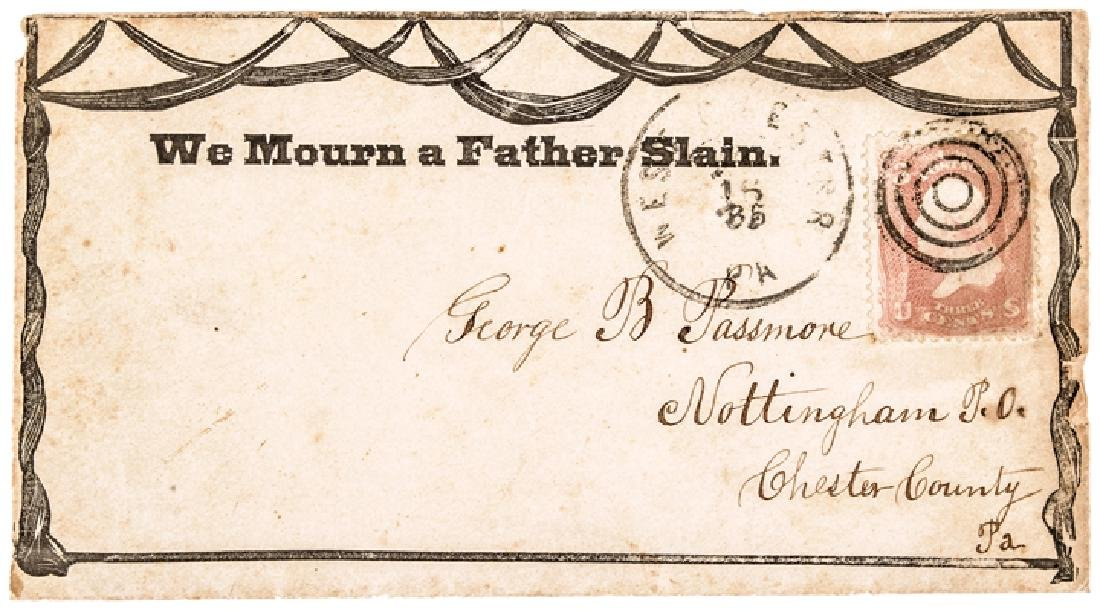 1865 Abraham Lincoln Illustrated Mourning Cover