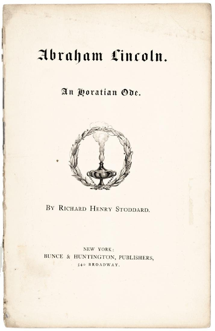 1865 Memorial Imprint Booklet, Abraham Lincoln - 2