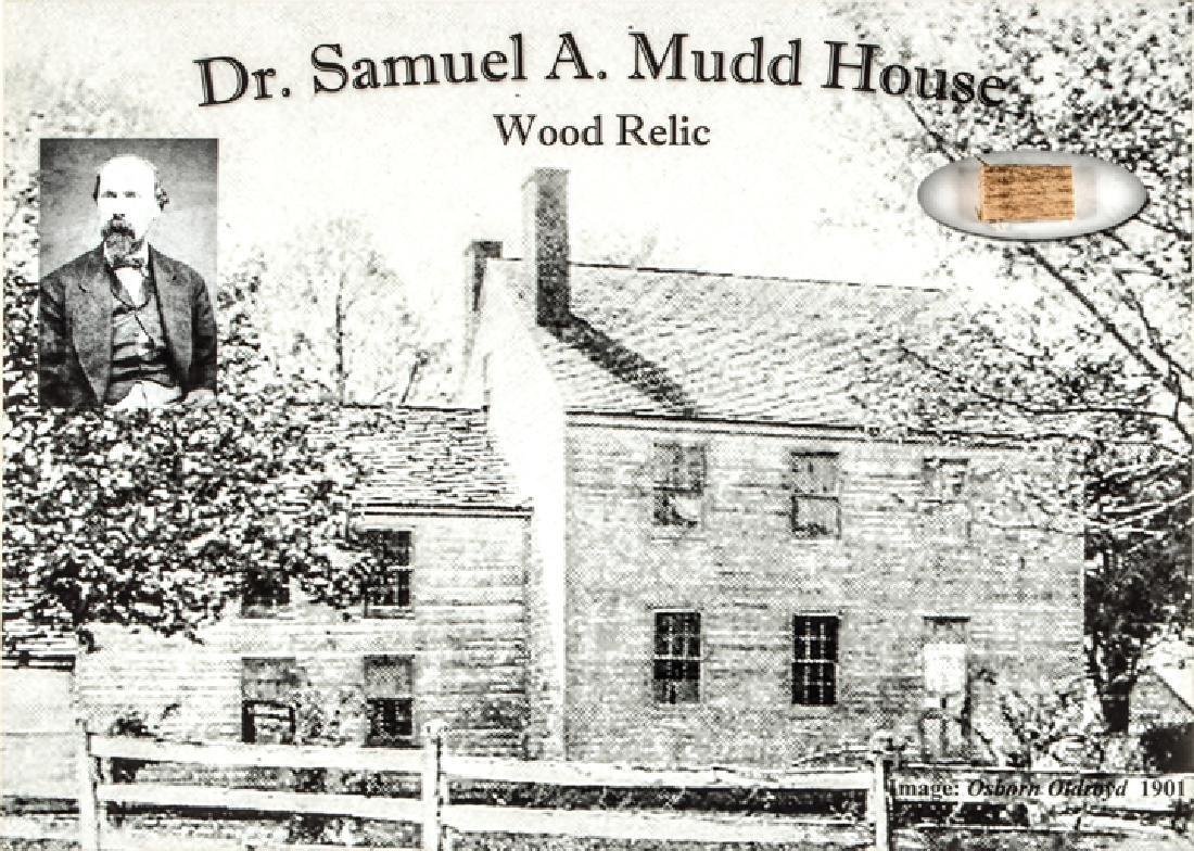 Rare Dr. Samuel Mudd Lincoln Assassination Relic