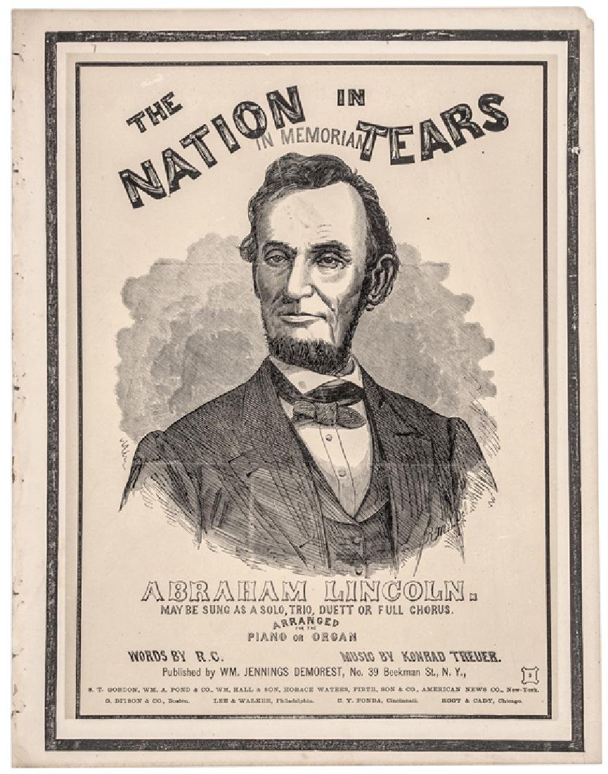 1865-Dated Abraham Lincoln Memorial Sheet Music