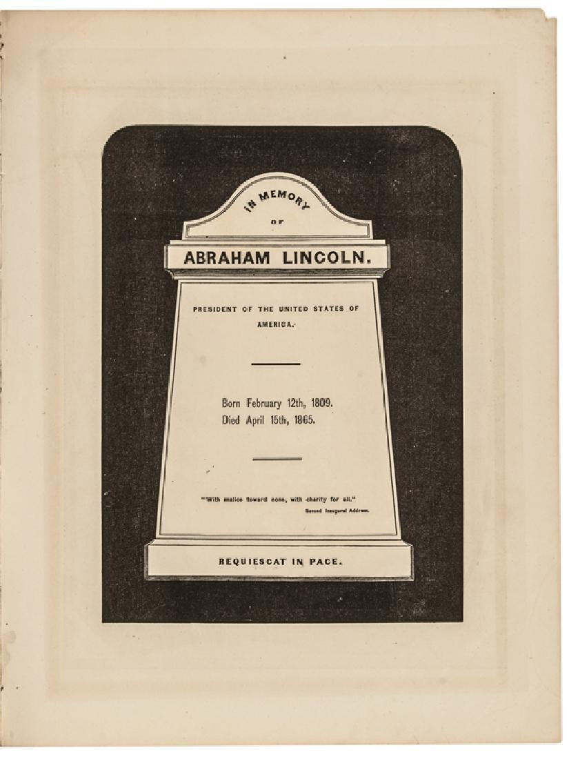 1865-Dated Abraham Lincoln Memorial Sheet Music - 4