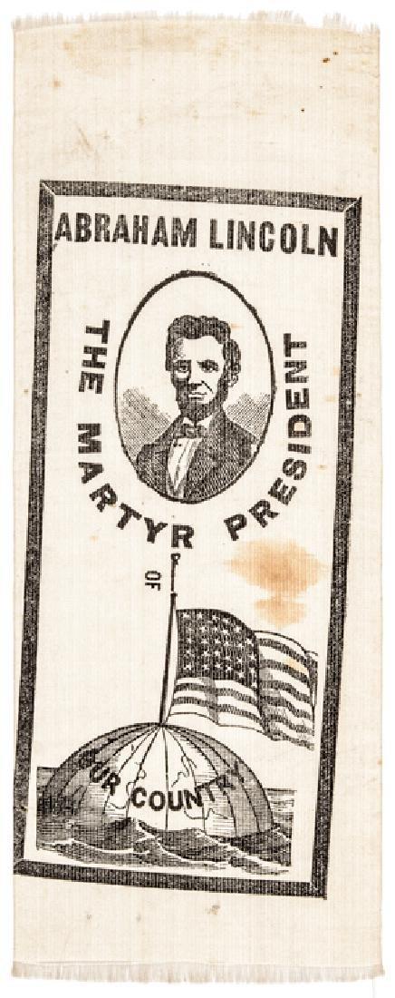 Lincoln The Martyr President Silk Memorial Ribbon