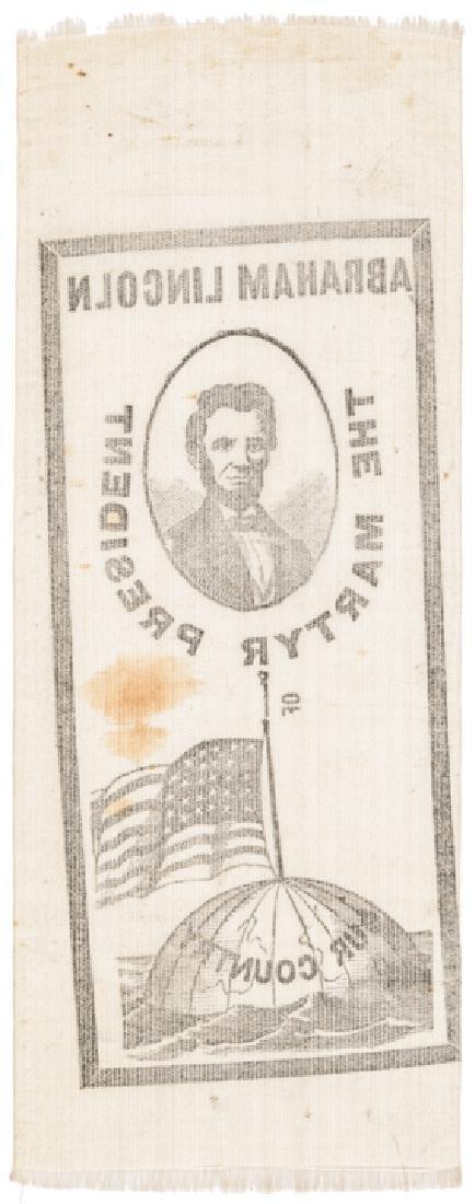 Lincoln The Martyr President Silk Memorial Ribbon - 2