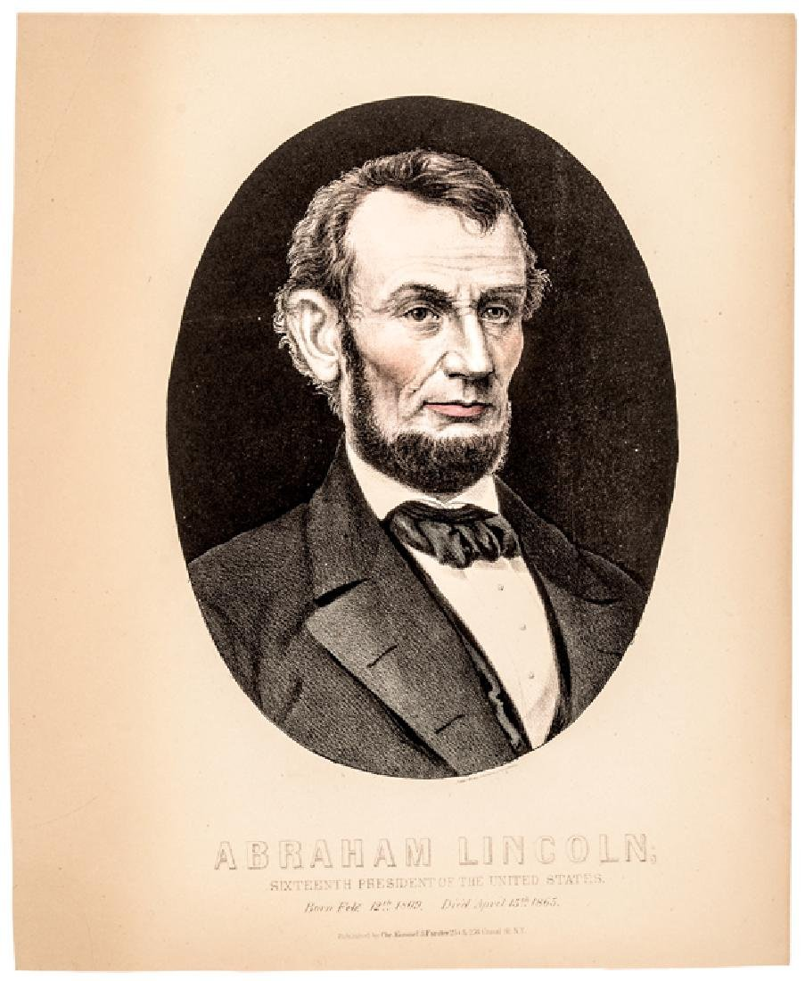 1865 Abraham Lincoln Assassination Mourning Print