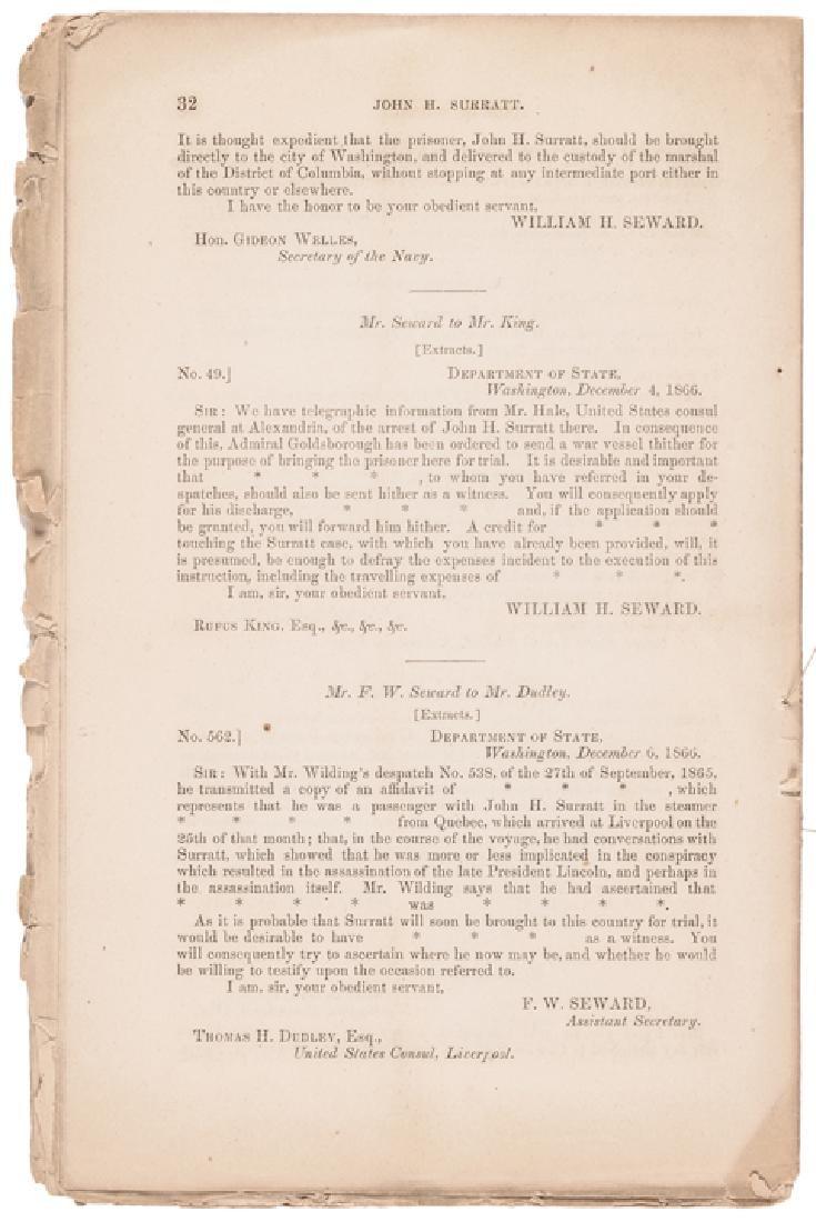 1866 Andrew Johnson Reports John Surratt's Arrest - 4