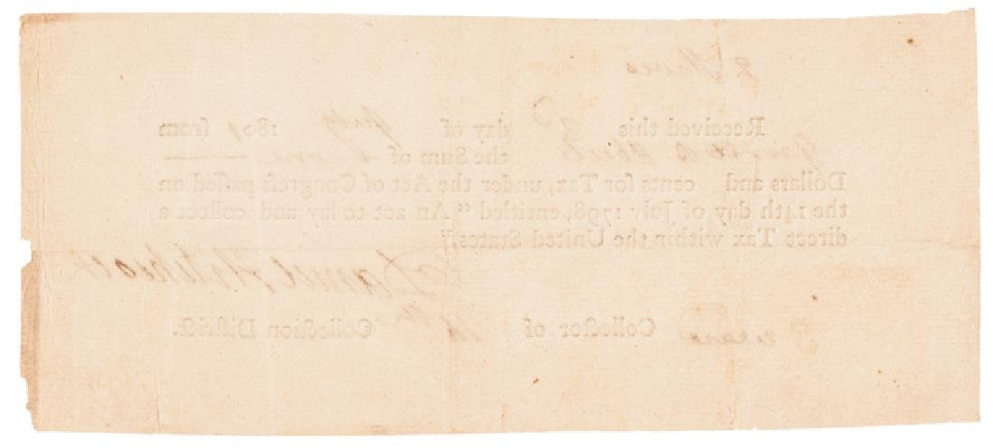 1798 Federal Direct Tax Document $1 for 2 Slaves! - 2