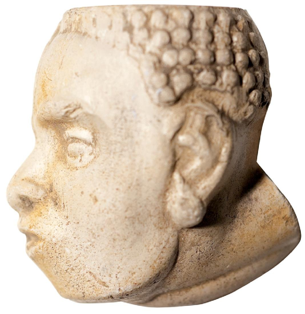 Black History African Slave Head Pipe Bowl