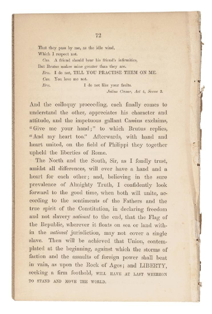 1854 Charles Sumner Anti-Slavery Freedom Imprint - 2