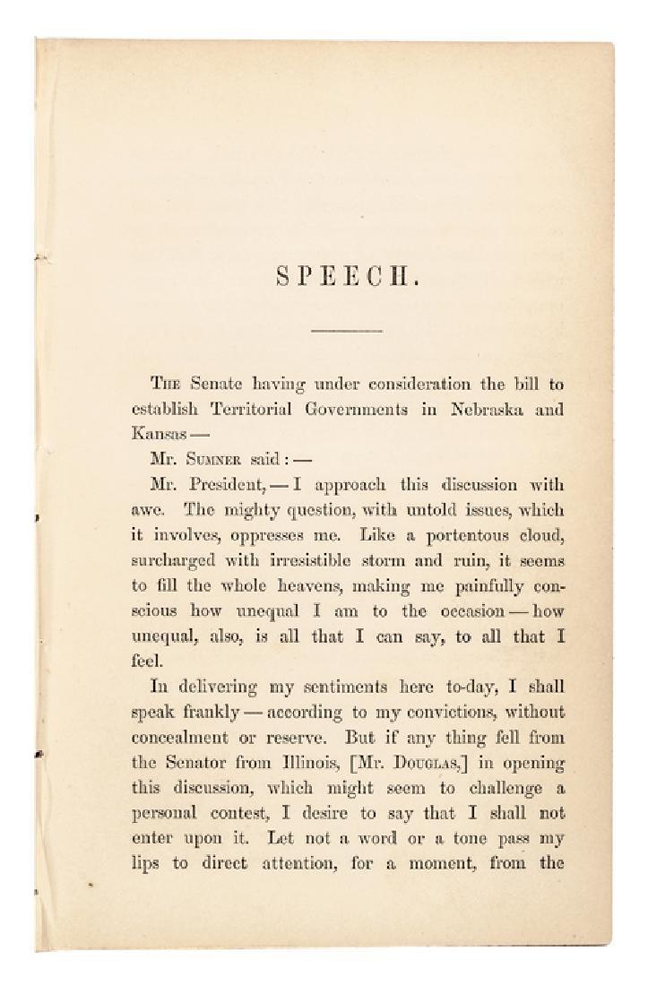 1854 Charles Sumner Anti-Slavery Freedom Imprint - 3