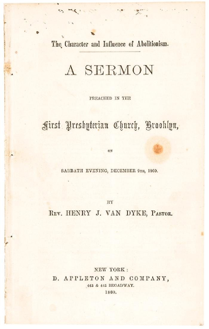 1860 Civil War Imprint, Review of... Abolitionism