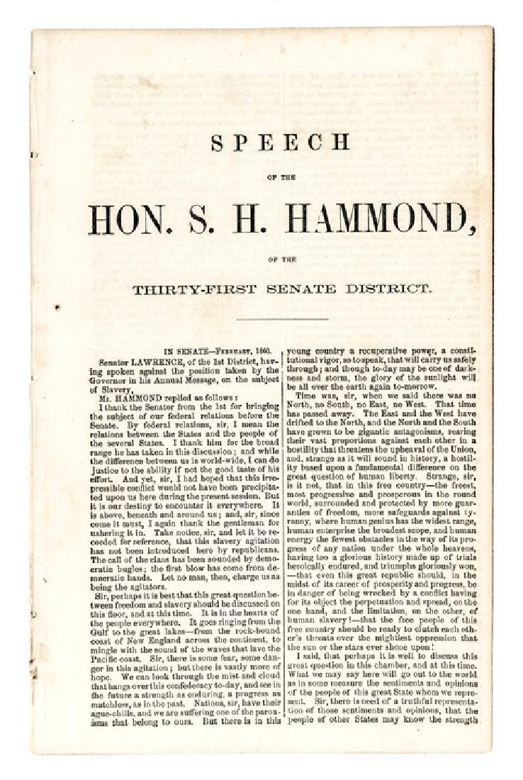 1860 Freedom National Slavery Sectional SPEECH - 3