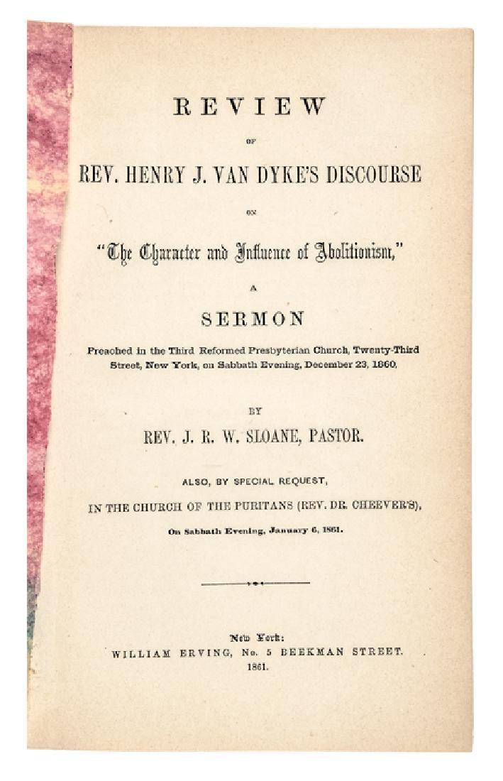 1860 Civil War Imprint, Review of... Abolitionism - 3