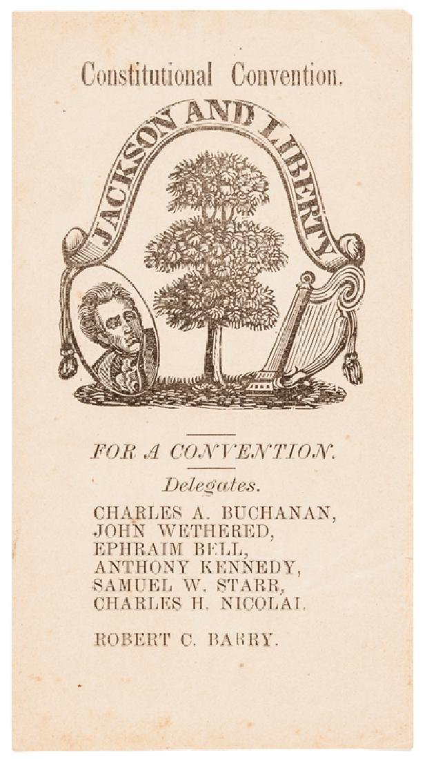 1864 MD Slavery Constitutional Convention Tickets - 8