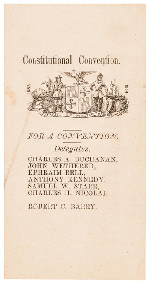 1864 MD Slavery Constitutional Convention Tickets - 9