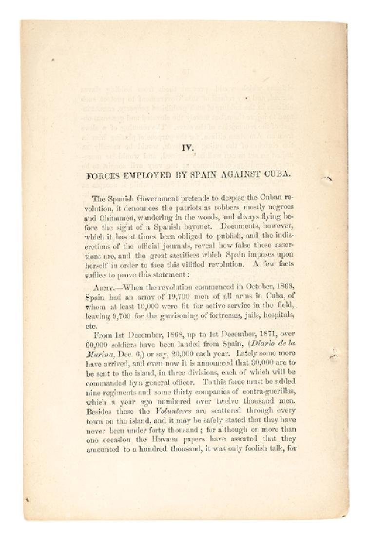 1872 Imprint, Notes About Cuba, Including SLAVERY - 2