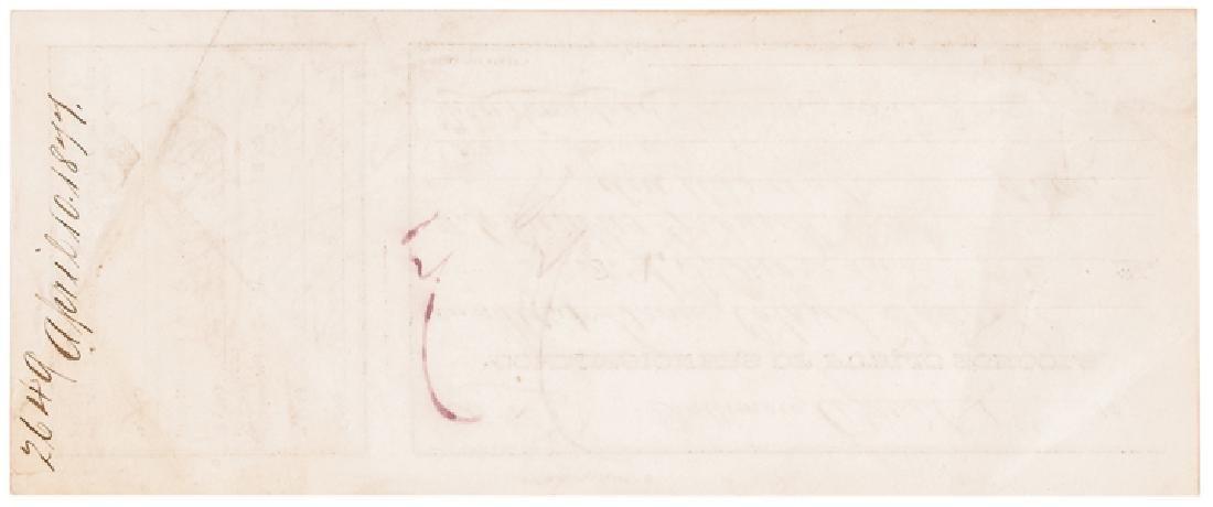 1877 Rev. L. Morgan Signed Colored School Reciept - 2