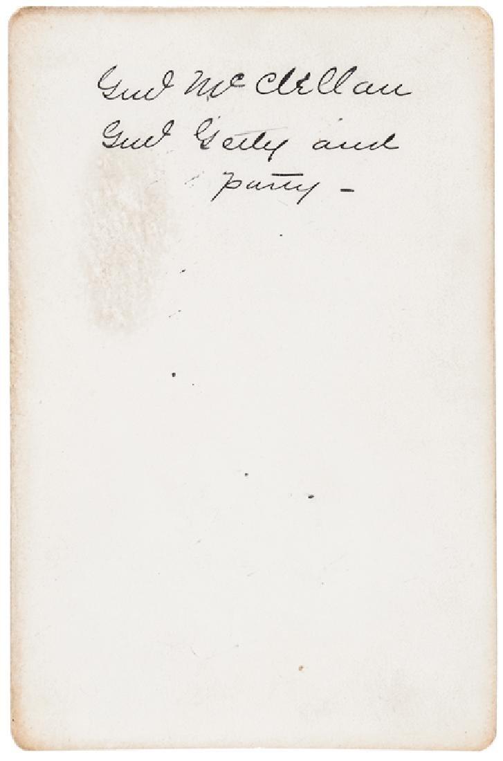 Civil War Generals McClellan + Getty Cabinet Card - 2