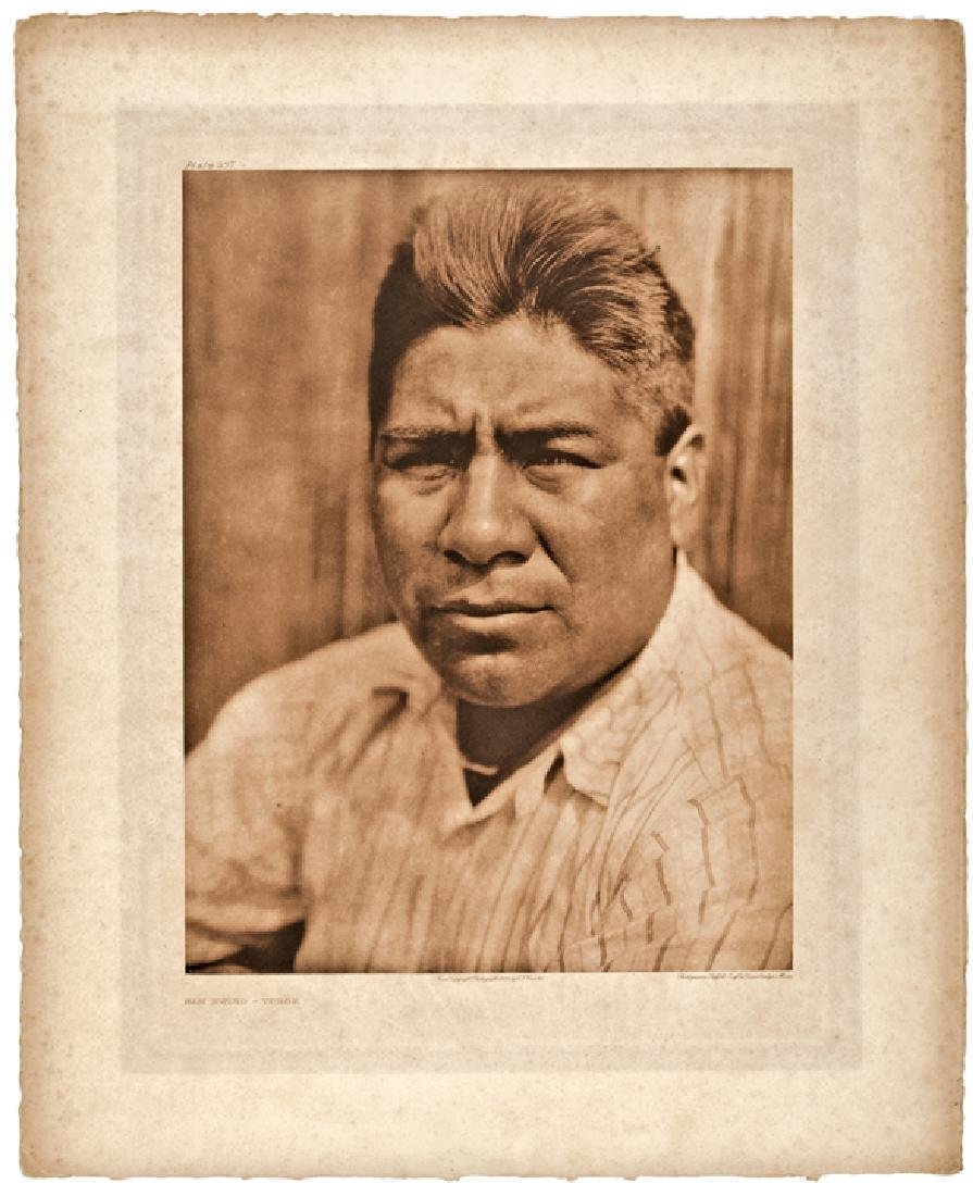1923 Edward Curtis Native American Photogravure