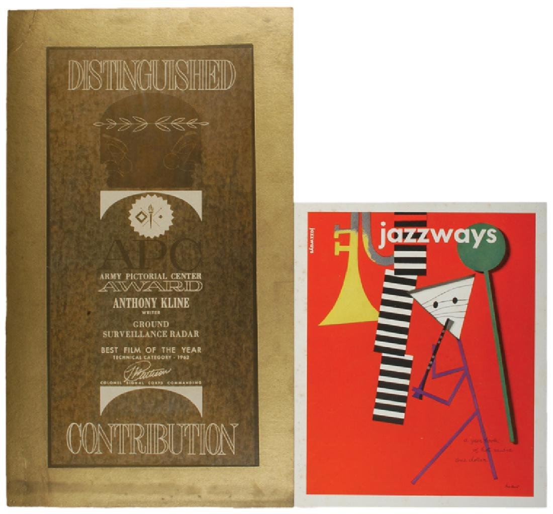 c. 1960s, Lot of TWO Scarce MODERNIST Posters
