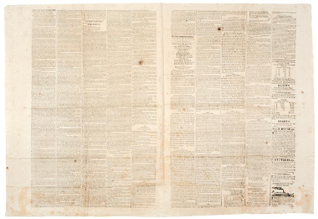 1820, Broadside DeWitt Clinton + John Tayler