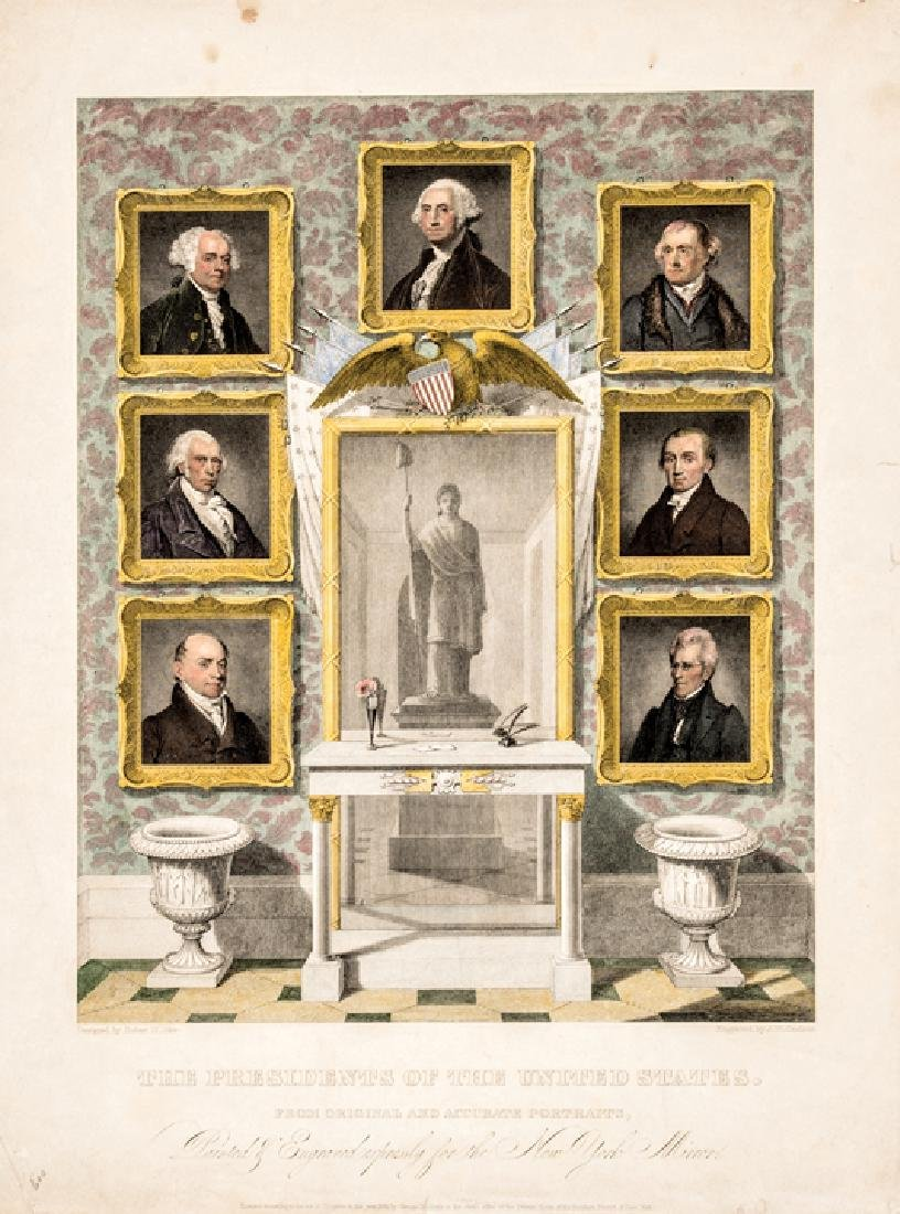 1834 Engraving: PRESIDENTS OF THE UNITED STATES.