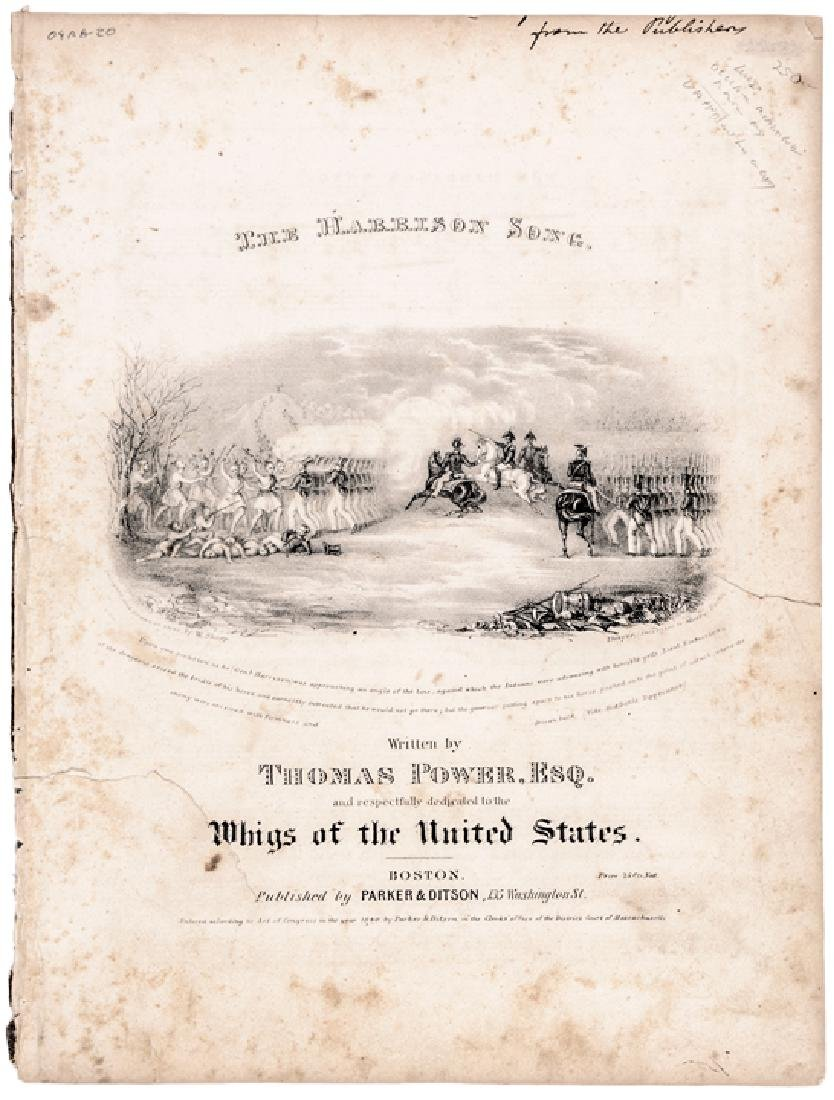 1840 Historic Sheet Music: Battle of Tippecanoe