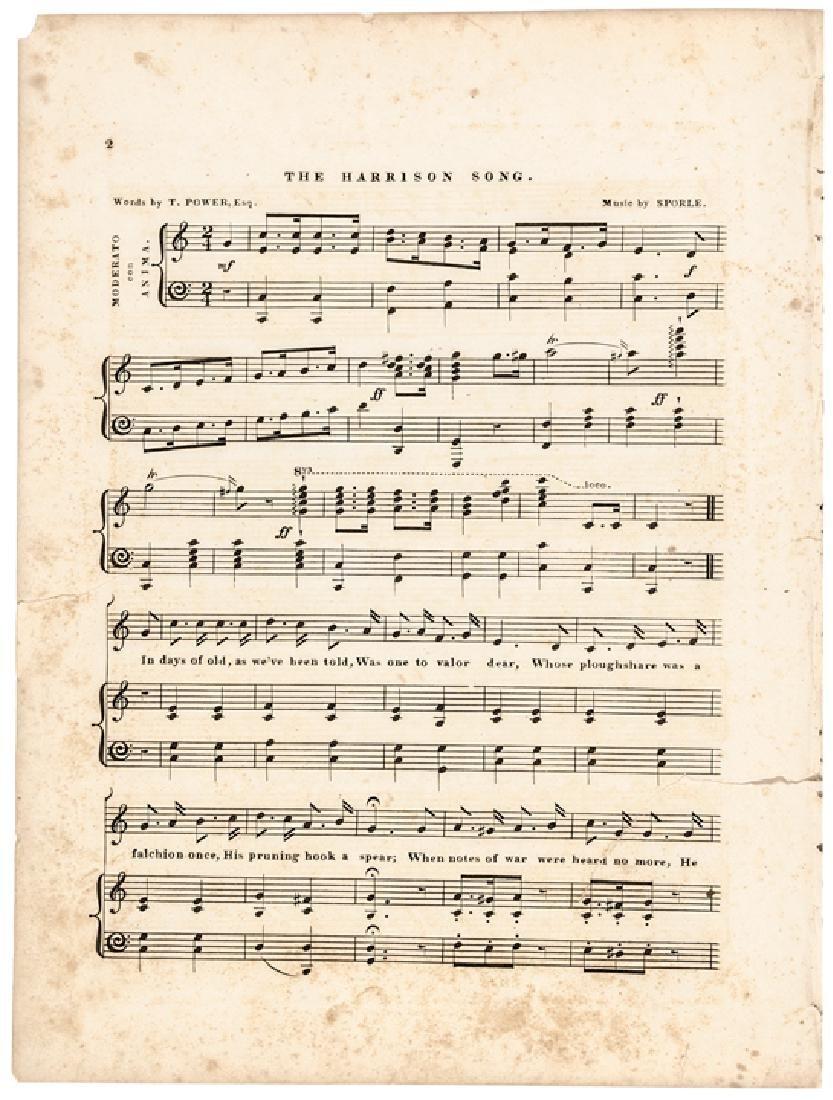 1840 Historic Sheet Music: Battle of Tippecanoe - 2