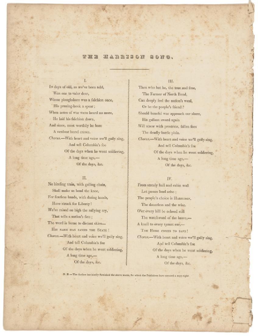 1840 Historic Sheet Music: Battle of Tippecanoe - 3